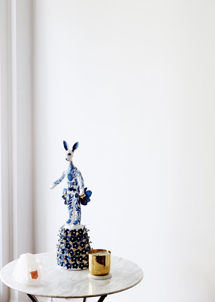 """A porcelain **figure**, *Welcome* by Vipoo Srivilasa, from [Scott Livesey Galleries](http://www.scottliveseygalleries.com/?utm_campaign=supplier/