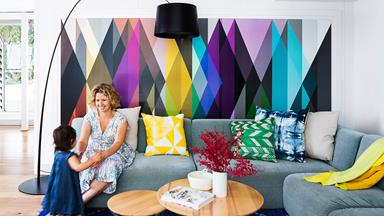 Colour brings joy to a rundown '80s home