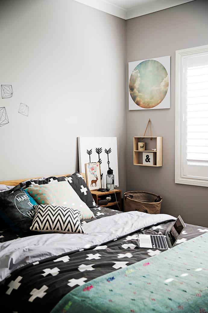 """The black and white bedlinen in Brodyn's room is from [Target](http://www.target.com.au/?utm_campaign=supplier/