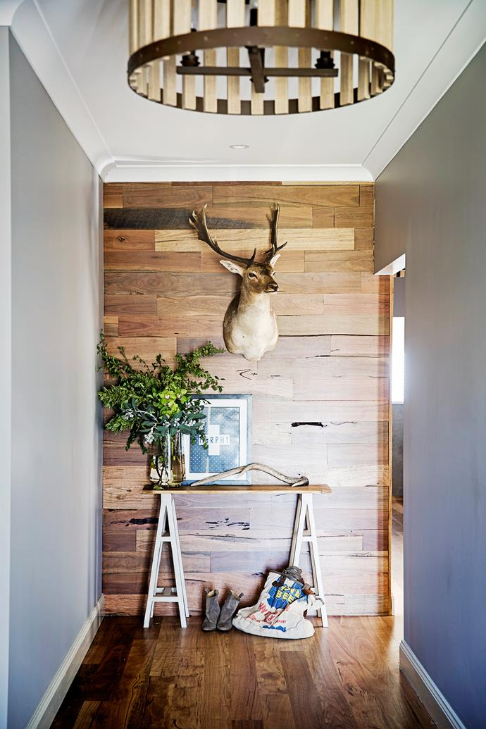 """""""I came across Mr Fallow (the deer mount) and felt he looked like he belonged in our home,"""" Brooke says."""