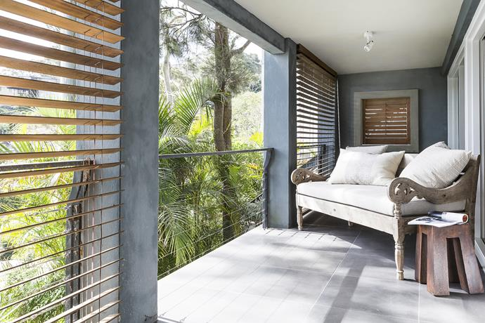 The balcony off the main bedroom downstairs has sweeping harbour views – it's the perfect parents' retreat.