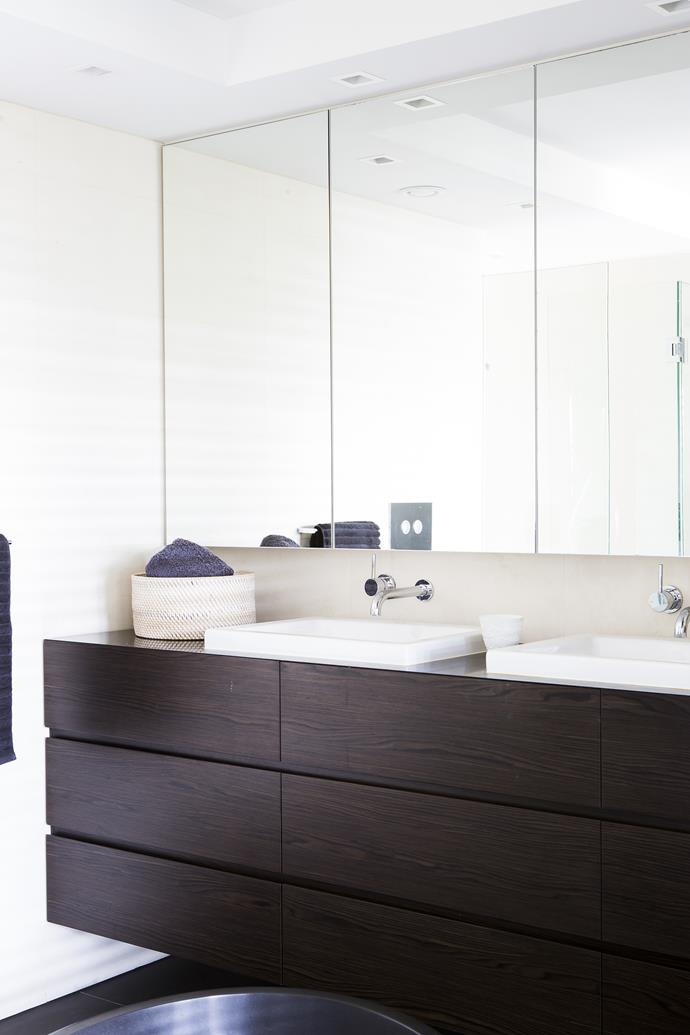 The mirrored storage makes the most of the natural light.