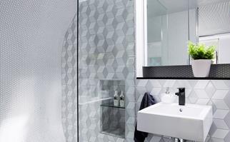 Curved bathroom design
