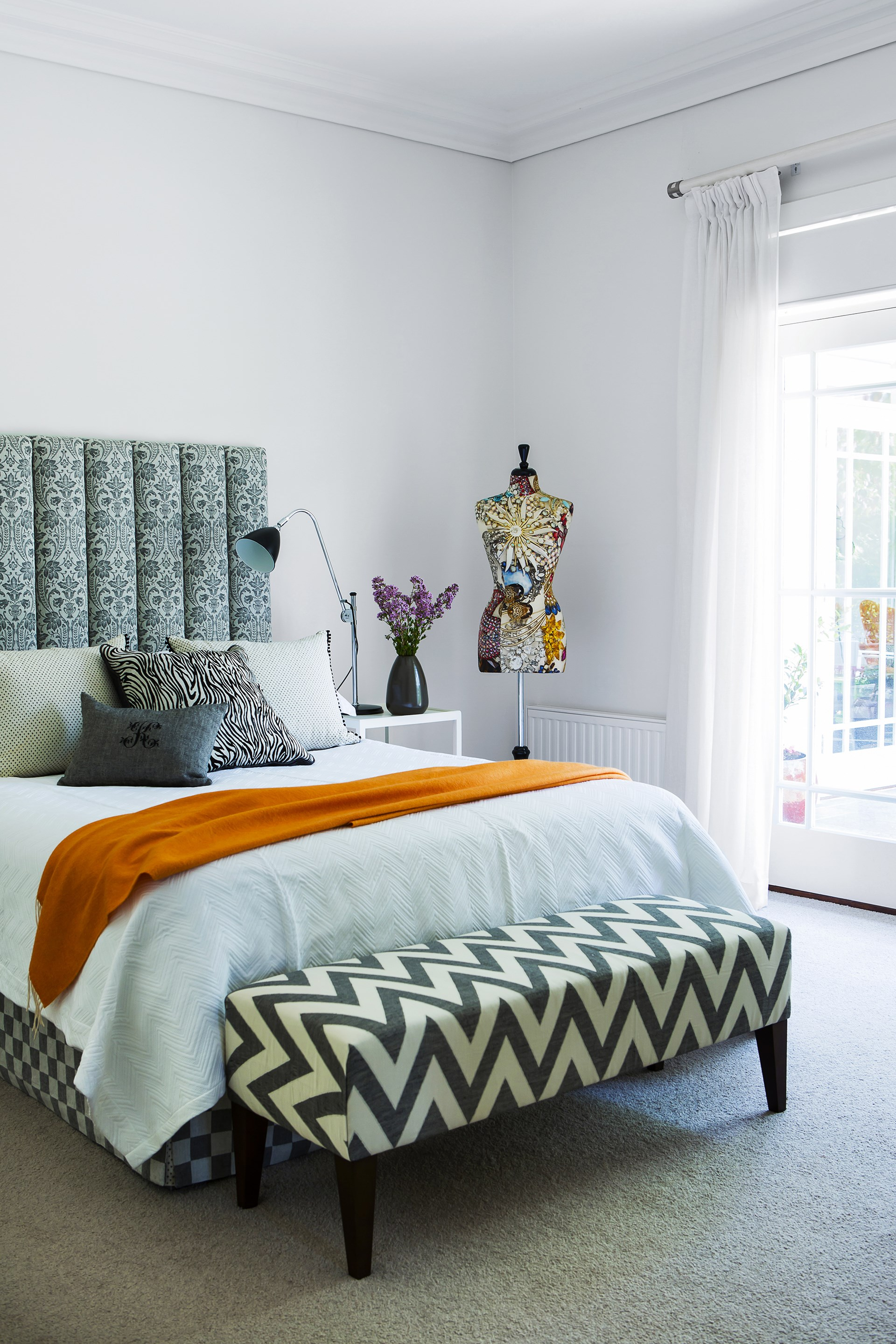 "Patterned fabrics are expertly blended to create interest in this [classic Canberra abode](http://www.homestolove.com.au/1920s-canberra-home-gets-empty-nester-revamp-2460|target=""_blank""). Photo: Maree Homer / *Australian House & Garden*"
