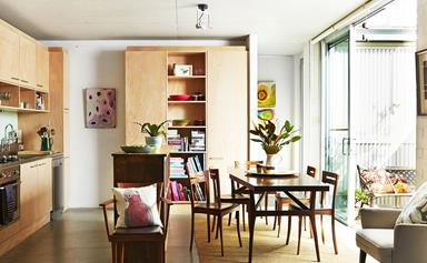An art gallery owner's colourful and heart-filled home