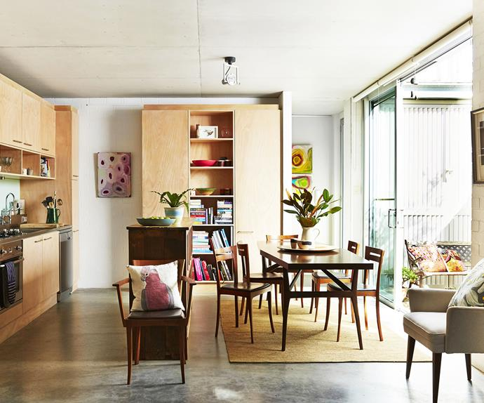Artistic open plan family living room