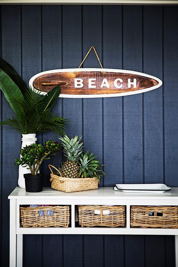 "Wendy bought this wooden 'Beach' **sign** from [Home At Last](http://www.homeatlastmilton.com.au/?utm_campaign=supplier/|target=""_blank"") in Milton."