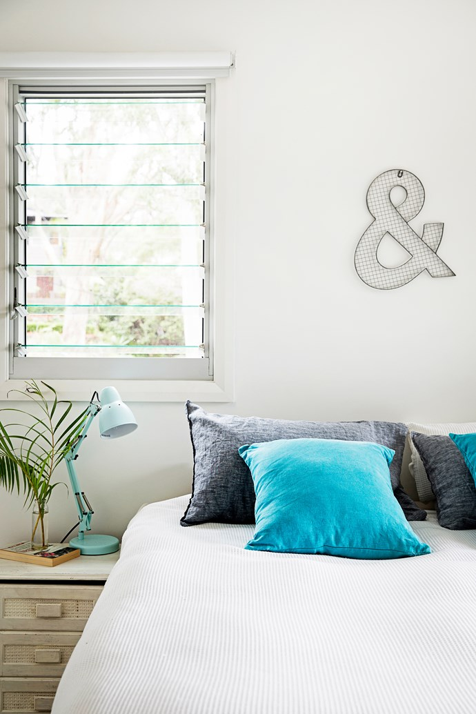 "The **bedside lamps** and the **ampersand** above the bed are from [Typo](http://cottonon.com/AU/shop-by-brand/typo/?utm_campaign=supplier/|target=""_blank"")."