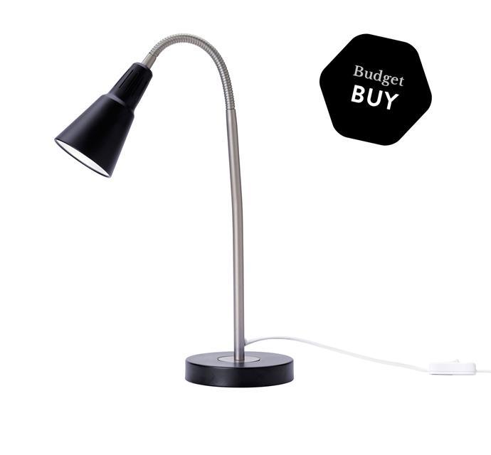 "Kvart work lamp, $9.99 from [Ikea](http://www.ikea.com.au/?utm_campaign=supplier/|target=""_blank"")."