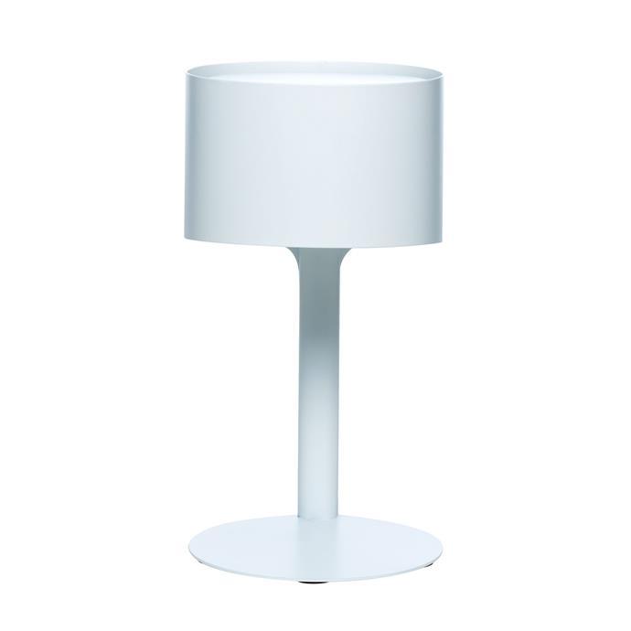 "Piccolo table lamp in white, $99.95 from [Milk & Sugar](http://milkandsugar.com.au/?utm_campaign=supplier/|target=""_blank"")."