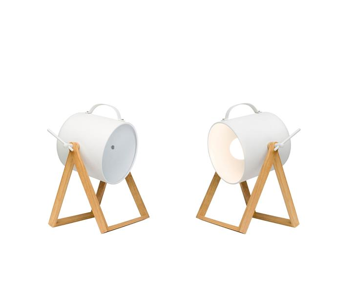 """Scandi Spot table lamp in White, $99 from [Freedom](http://www.freedom.com.au/?utm_campaign=supplier/