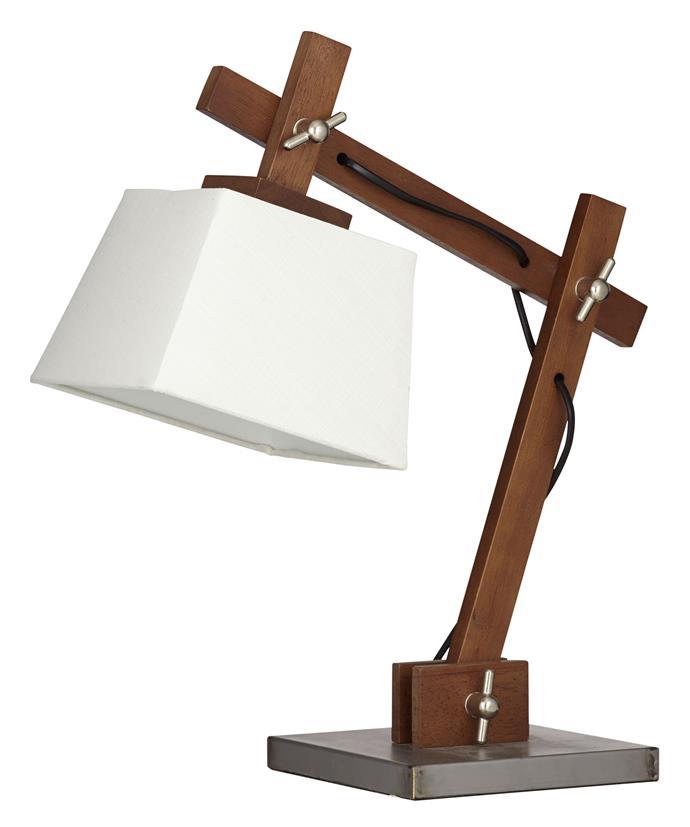 "Zuri desk lamp, $149.95 from [Amalfi](http://www.amalfihomewares.com.au/?utm_campaign=supplier/|target=""_blank"")."