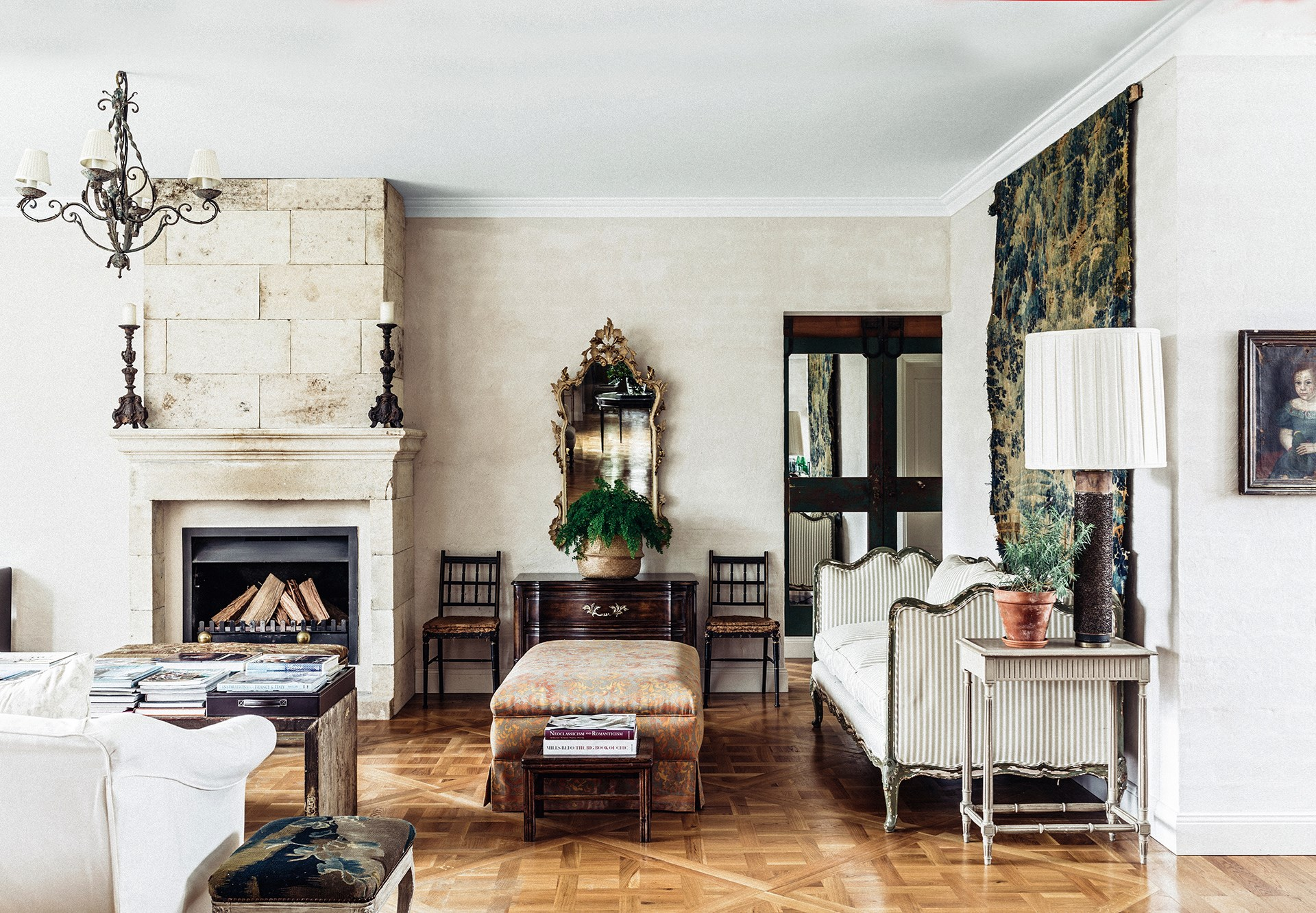 "From its elegant parquetry flooring to its timeless, classic furnishings, [a chic French spirit infuses this house in the NSW Southern Highlands](http://www.homestolove.com.au/melissa-penfolds-french-inspired-country-house-2537|target=""_blank""). Photo: Felix Forest / *belle*"