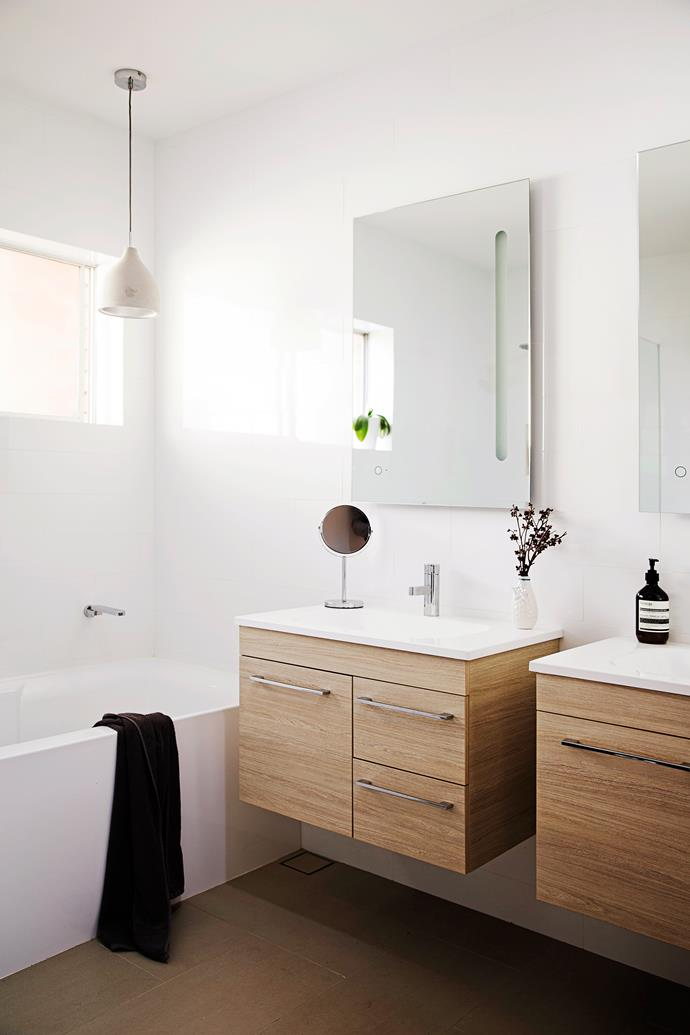 """Daniel opted for olive porcelain floor **tiles** from [Living Tiles](http://www.livingtiles.com.au/?utm_campaign=supplier/