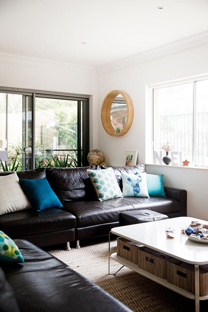 """The open-plan living area features a large Delta II modular **sofa** from [King Furniture](http://www.kingliving.com.au/?utm_campaign=supplier/