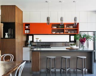 contemporary kitchen colours