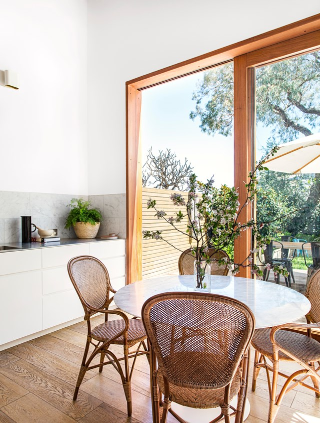 "**Engage in a round-table conversation.** Round dining tables are a great solution for compact or awkward spaces. Their curvy lines are very forgiving – you can easily manoeuvre around the edges and position them tightly in snug corners. See more of the home of [interior designer Jeremy Bull](http://www.homestolove.com.au/interior-style-qanda-designer-jeremy-bull-2518|target=""_blank""). Photo: Felix Forest / *Belle*"