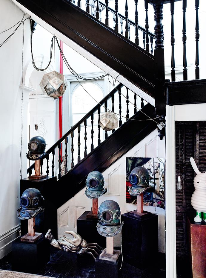 """Old Japanese divers' helmets, [Tom Dixon](http://www.tomdixon.net/?utm_campaign=supplier/
