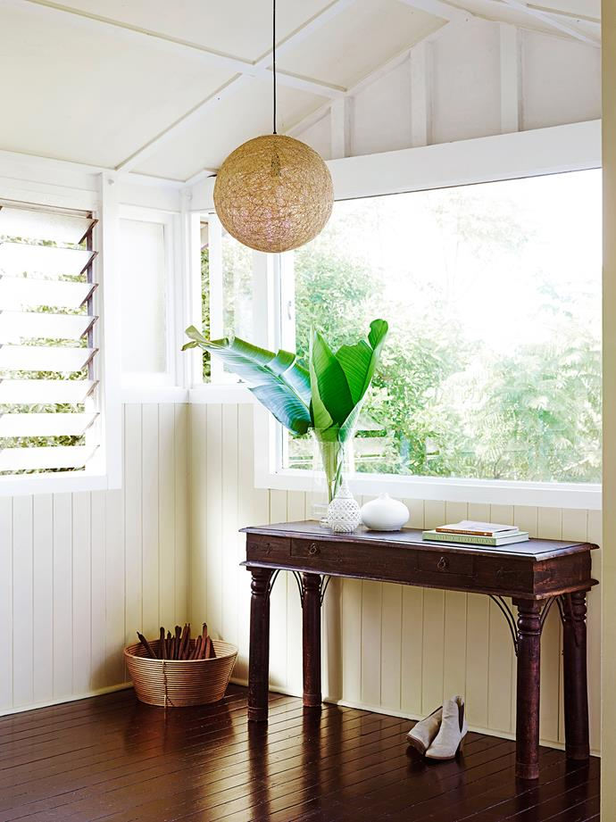"""""""There's so much to love about this area, it sets the tone for the rest of the house,"""" Melissa says of the verandah."""