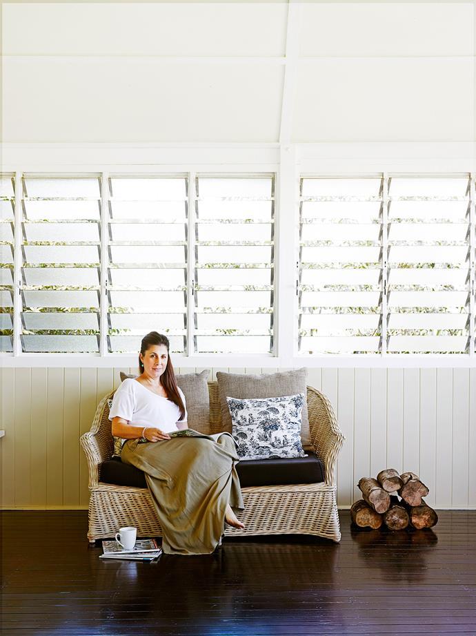 Louvred windows maximise airflow.
