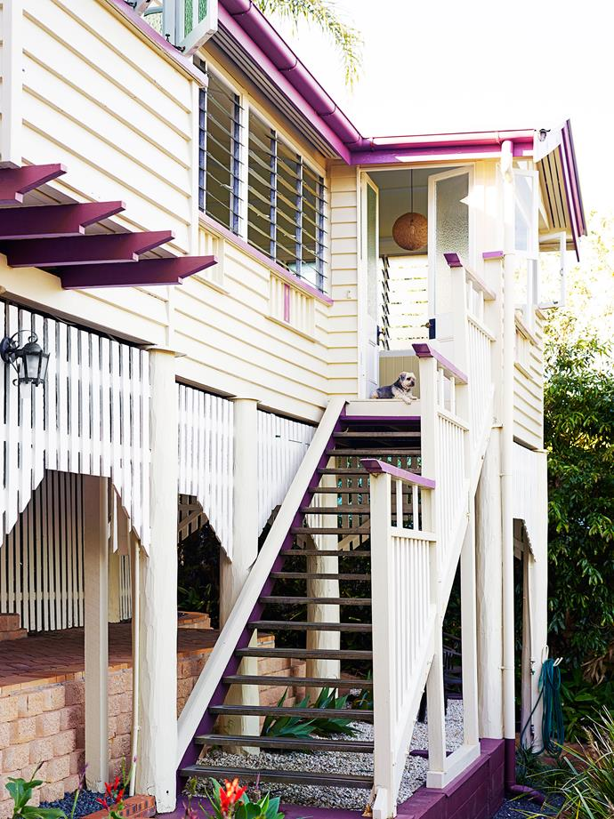 """Part of the property's appeal was its natural surrounds. """"Our street is quiet, leafy and lined with Queenslanders,"""" Melissa says."""