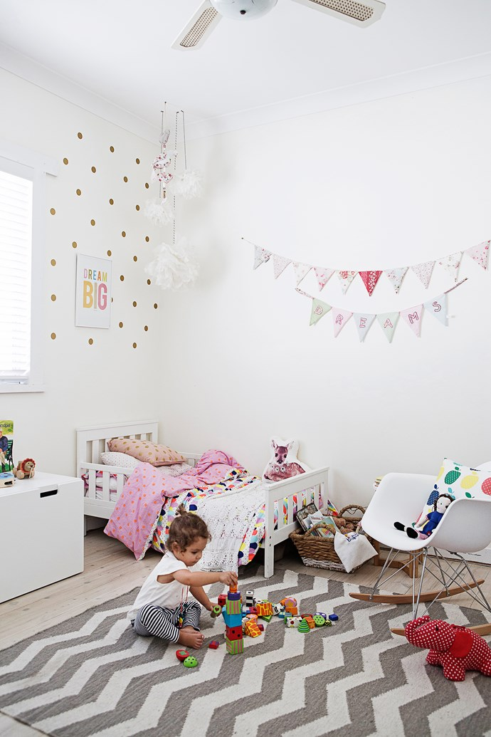 Eva's bedroom is a gorgeous space that's not overly girlie but totally hers.