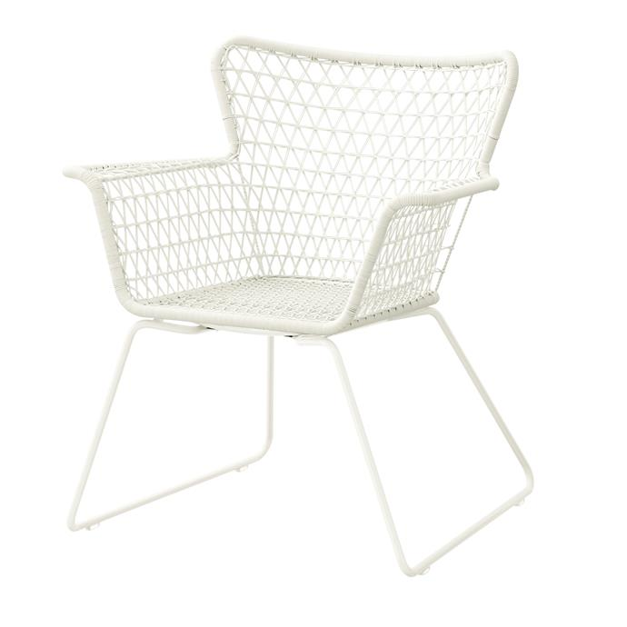 "Högsten powder-coated steel and polyethylene **armchair**, $129, [Ikea](http://www.ikea.com.au/?utm_campaign=supplier/|target=""_blank"")"