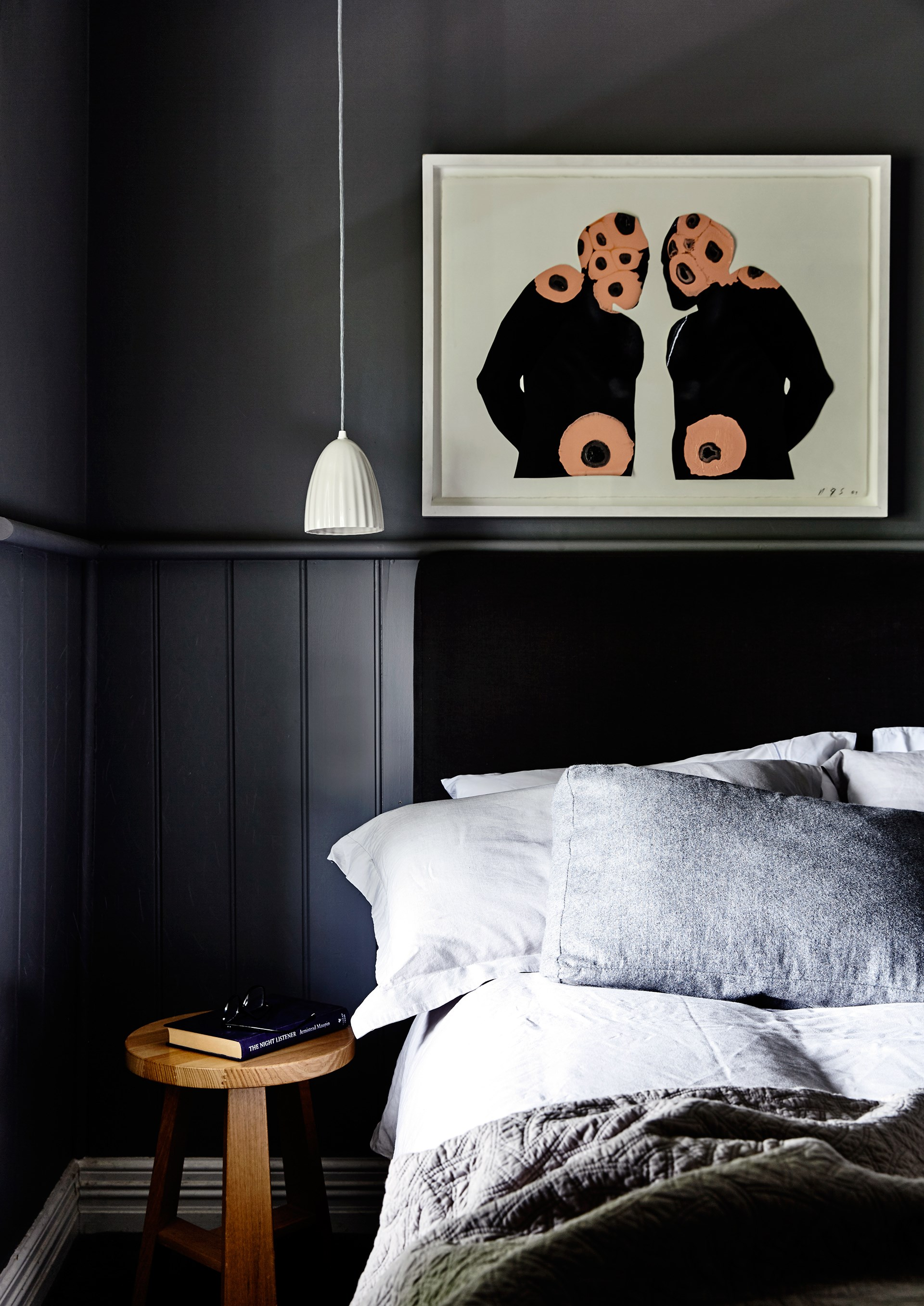 Dado-style wall panelling has a cosy effect in the front bedroom of this [chic country cottage](http://www.homestolove.com.au/interior-designer-capitalises-on-cottage-charm-2636). *Photo: Derek Swalwell*