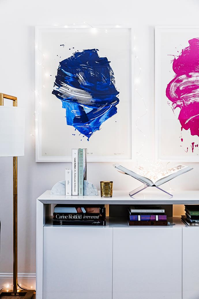 """The pair of artworks by Melbourne artist [Kate Banazi](http://www.katebanazi.com/?utm_campaign=supplier/