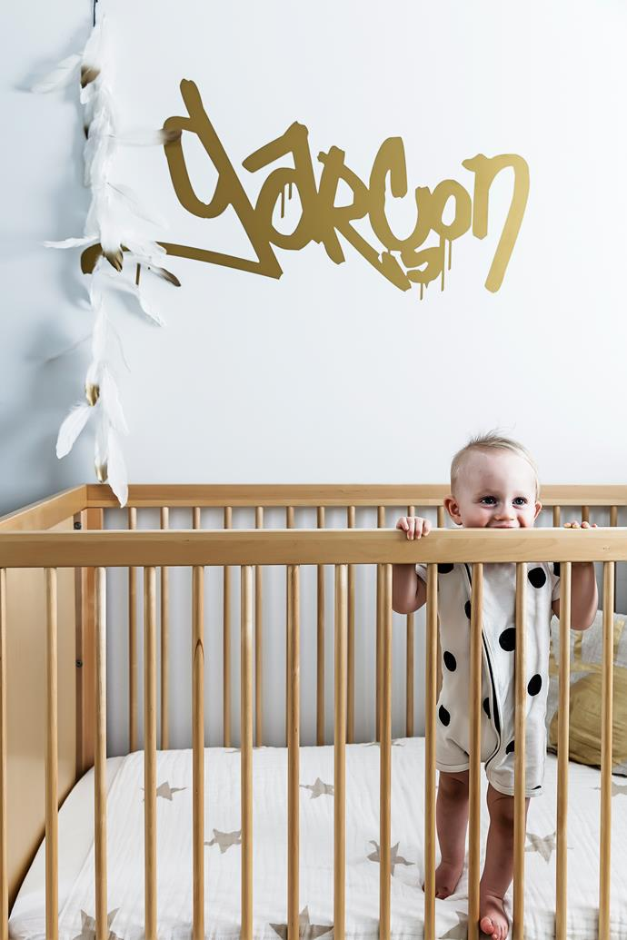 """Baby George is happy in his [Oeuf](http://www.oeufnyc.com/?utm_campaign=supplier/