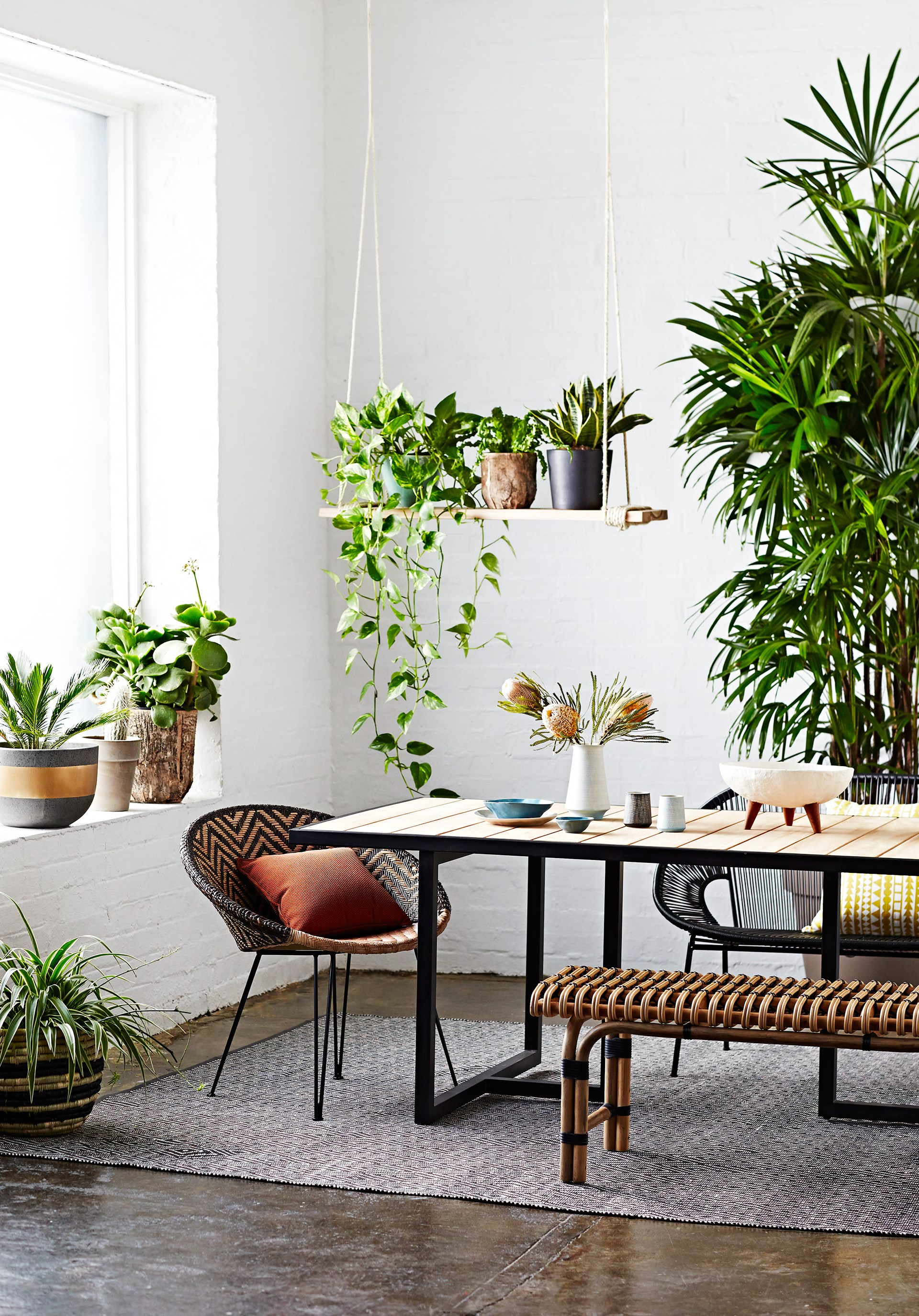 Don't be afraid to bring your garden indoors. Photo: Mike Baker / Australian House & Garden