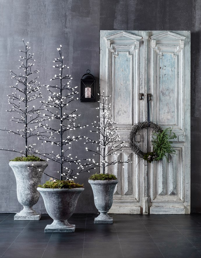 """Light-up metal and plastic **trees**, $178/each (large) and $127 (small), from [Florabelle](http://www.florabelle.com.au/?utm_campaign=supplier/