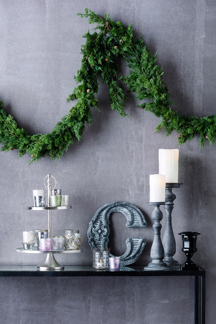 """Faux-fir **garlands** (160cm), $37/each, from [Florabelle](http://www.florabelle.com.au/?utm_campaign=supplier/