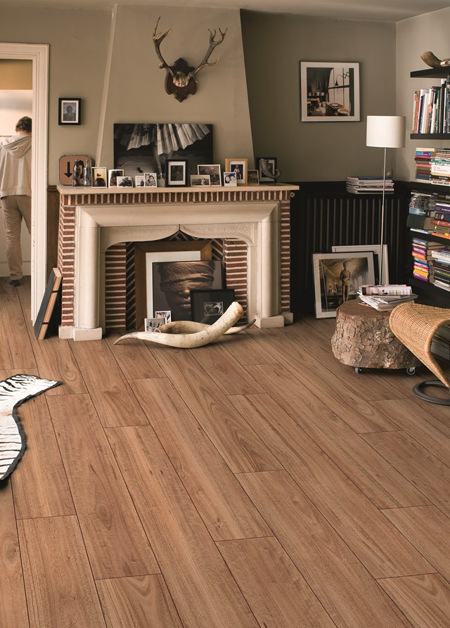 """Is it [timber or laminate](http://www.homestolove.com.au/tough-call-timber-versus-laminate-flooring-2680 target=""""_blank"""")? Quick-Step's Largo planks look like Blackbutt timber boards, but are actually laminate."""