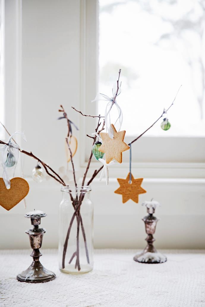 "A smaller ""tree"" makes a dainty festive centrepiece."