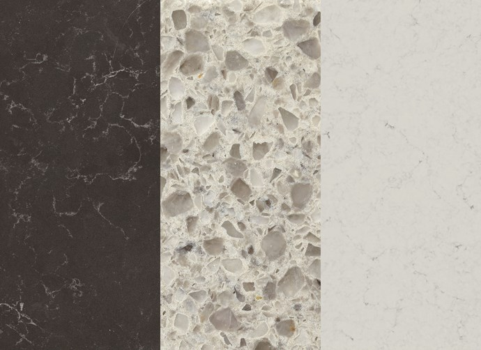 """Left to right: [Caesarstone](http://www.caesarstone.com.au/?utm_campaign=supplier/