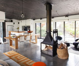 Country-style open plan living room