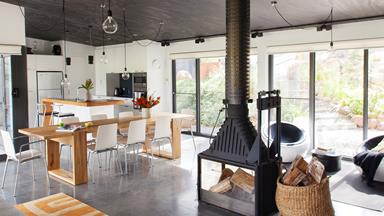 Pierina and Joseph's converted shed in country Victoria