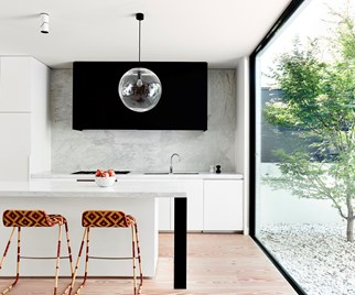 Luxury brick and steel open plan living