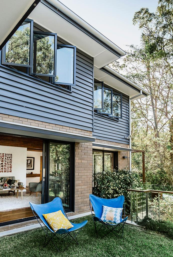 """Renovating has transformed the way the McNaughts live. """"My favourite thing to do is open all the doors, from the front terrace to the back porch, so the children can wander in from outside. It's so different to how it was before we renovated,"""" says Kylie."""