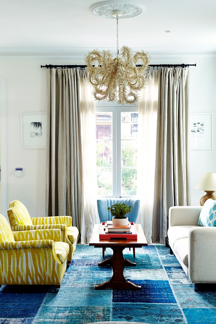 Flowing curtains can be used to dramatic effect in the living room or bedroom. Photo: Scott Hawkins