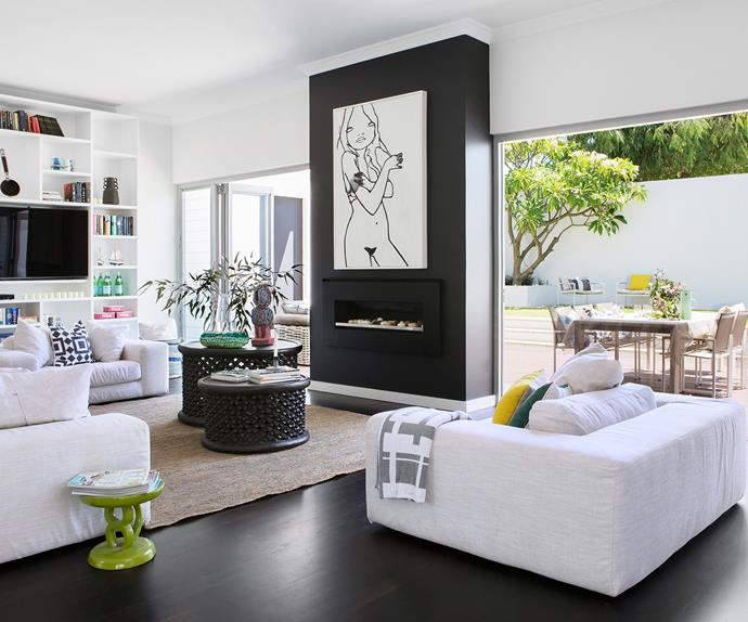 Perth new build open plan living room