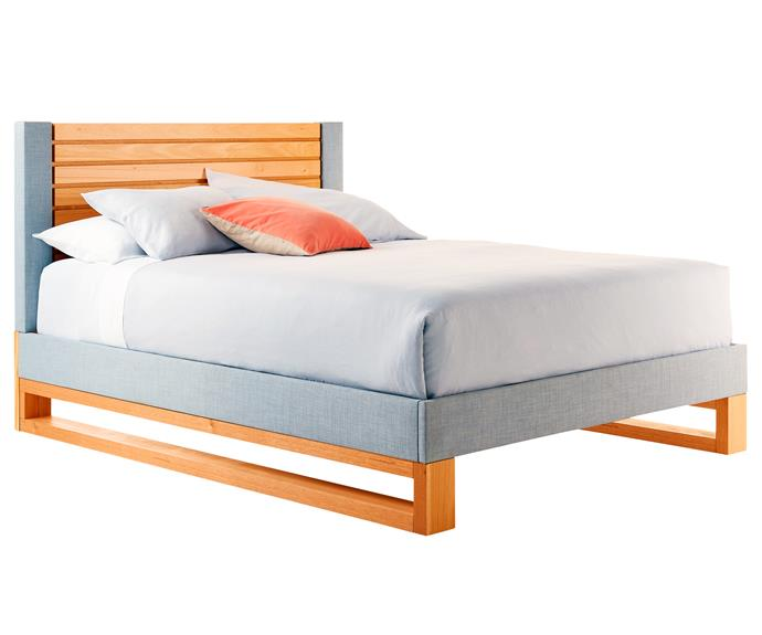 "**Asta queen bed frame**, from $2199. This Australian-made bed combines the natural appeal of timber with the softness of upholstery. Matching furniture is available. Forty Winks; [www.fortywinks.com.au](www.fortywinks.com.au/?utm_campaign=supplier/|target=""_blank"")."