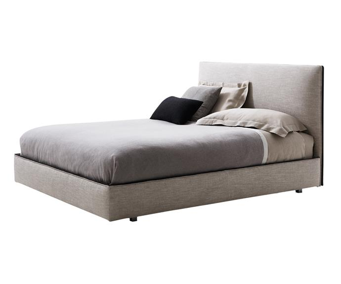 "**Molteni & C ribbon queen bed frame**, from $11,590. A new design, this bed features either fabric or leather upholstery edged with a ribbon trim that spans the headboard and base. Hub Furniture Lighting Living; [www.hubfurniture.com.au](www.hubfurniture.com.au/?utm_campaign=supplier/|target=""_blank"")."