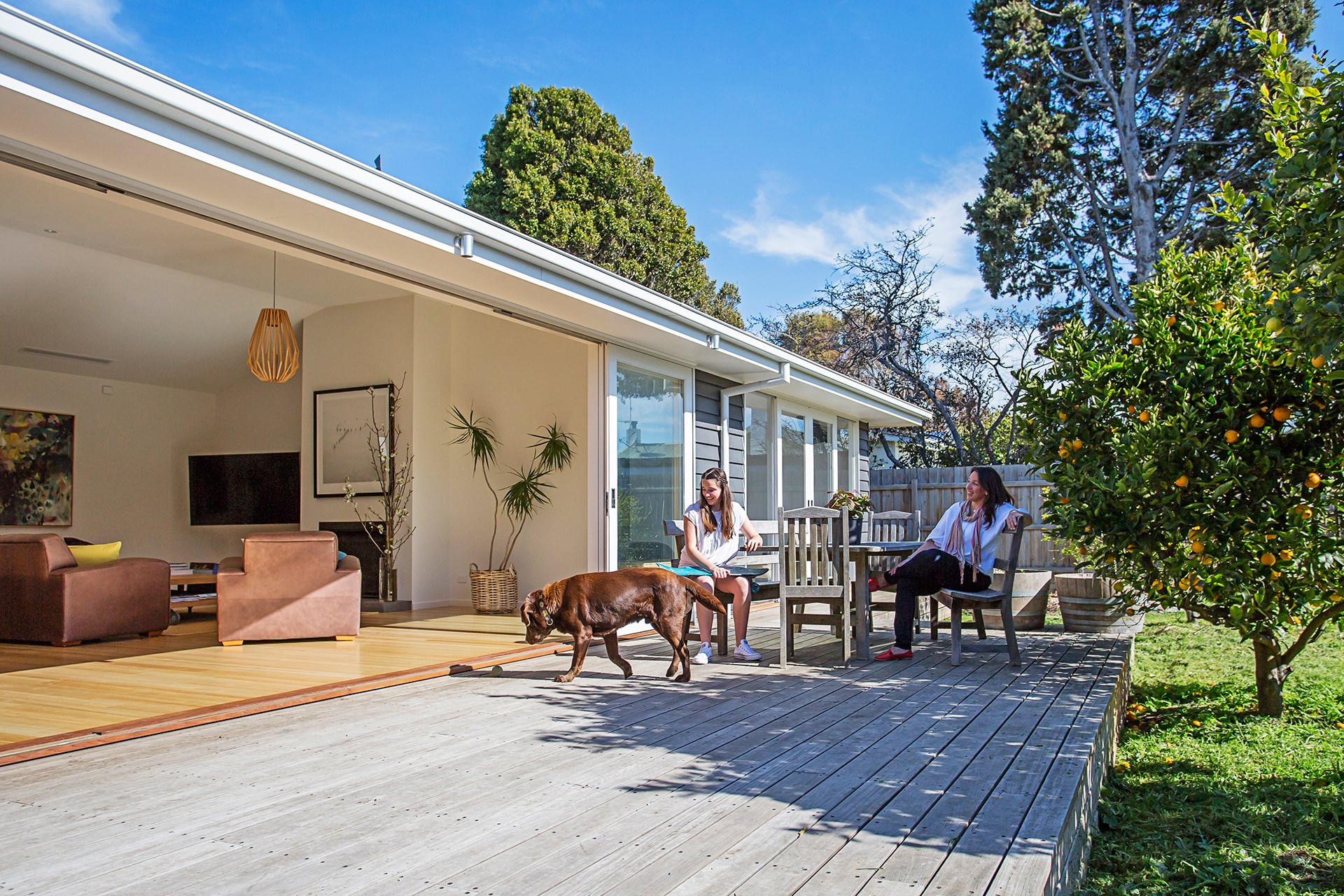 "**Strive for a seamless indoor-outdoor connection** – this means no level changes. The easier it is to get outside, the more your backyard will feel like another room in the house. [Take a tour of this family beach house](http://www.homestolove.com.au/beach-house-transformed-to-suit-next-generation-2807|target=""_blank""). *Photo: Katherine Jamison*"