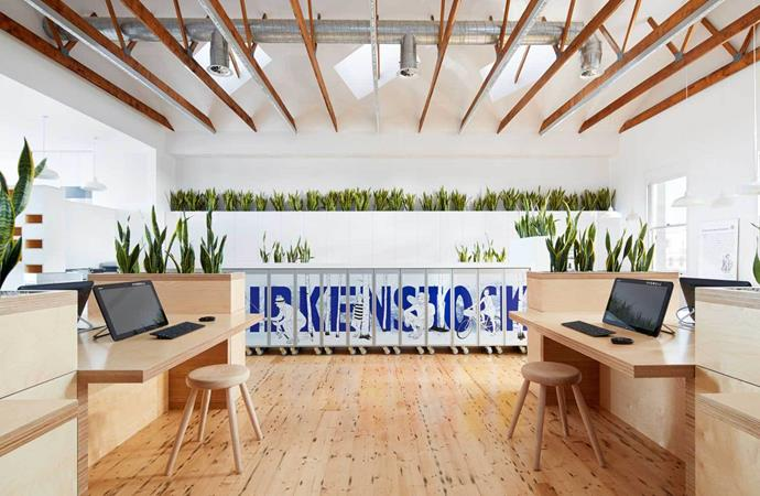 "[Melbourne Design Studios](http://www.melbournedesignstudios.com.au/?utm_campaign=supplier/|target=""_blank"") designed the new headquarters for [Birkenstock](https://www.birkenstock.com.au/?utm_campaign=supplier/|target=""_blank"") in Australia. Photo: Peter Clarke"