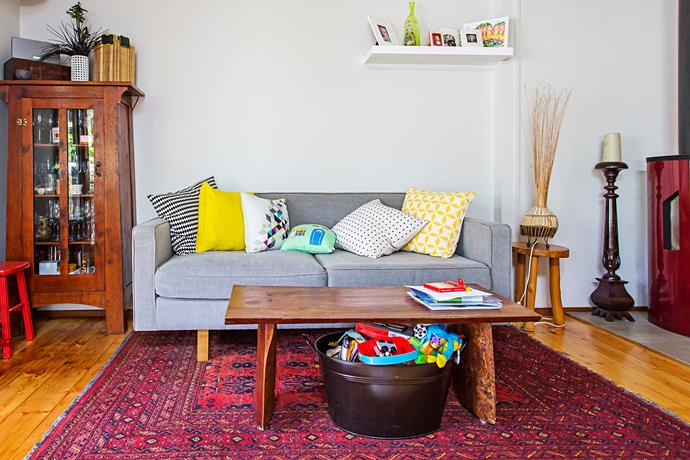 """""""Our floors are covered in what will be our future family heirlooms – our Afghan rugs,"""" says Judy. """"We have 11 of them and they just get better with age."""""""