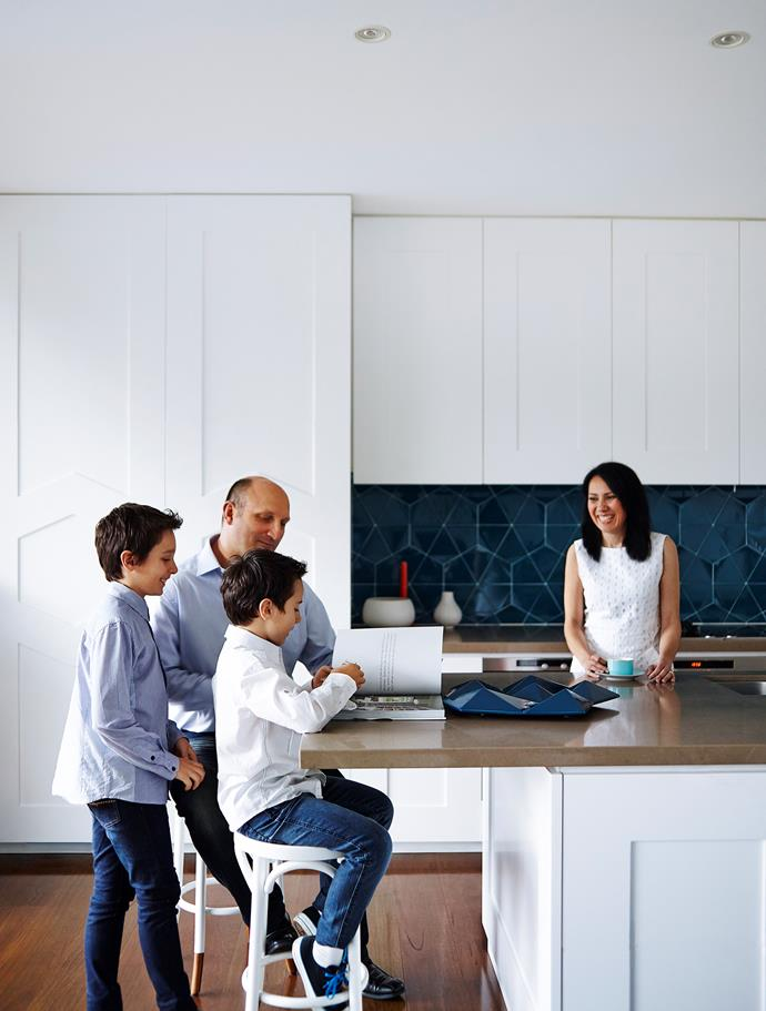 """""""This house is packed with storage,"""" says Greg. """"We have utilised every bit of space."""" Both the kitchen and the library also feature generous joinery for clutter-free family living."""
