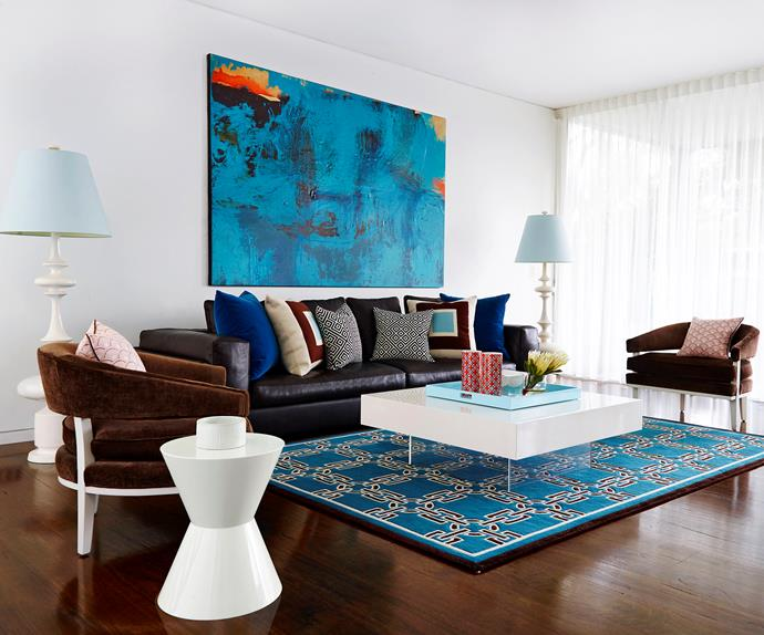 Living room designed by Greg Natale