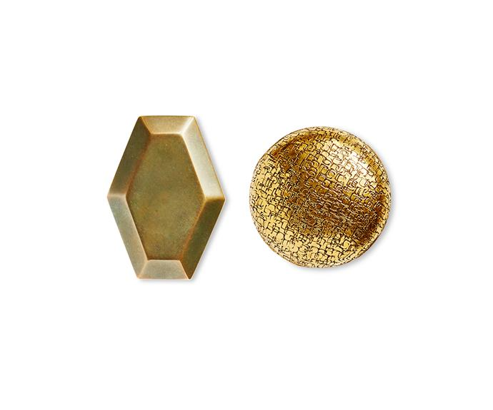 """1910 Faceted **door knob** and 1017 Textured **door knob**, [The Nanz Company](http://www.nanz.com/?utm_campaign=supplier/